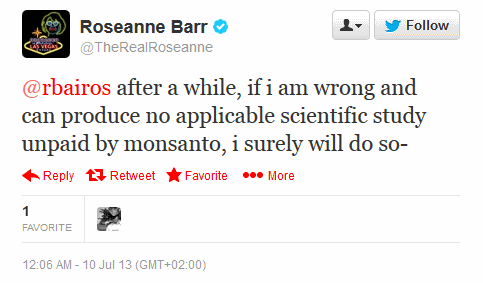 Roseanne says she might admit that she was wrong...