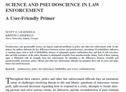 Pseudoscience in law enforcement