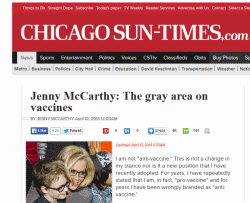 Jenny McCarthy is anti-vaccine