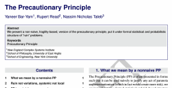 Failure of precuationary principle