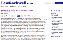 HIV/AIDS denialism at LewRockwell.com