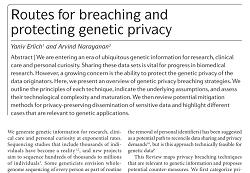 Breaching genetic privay