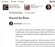 David Brooks and Neuroscience