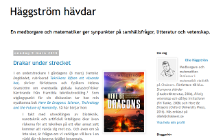 Häggström and Here Be Dragons