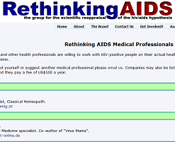 Rethinking AIDS website