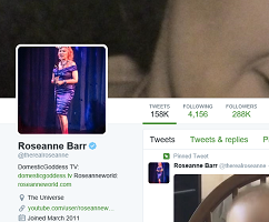 Roseanne's twitter page