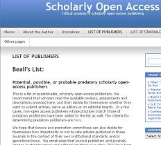 Beall's list