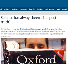 Is science post truth?