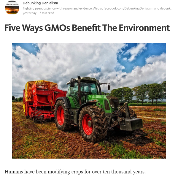 Five Ways GMOs Benefit The Environment