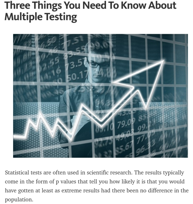 Three things to know about multiple testing